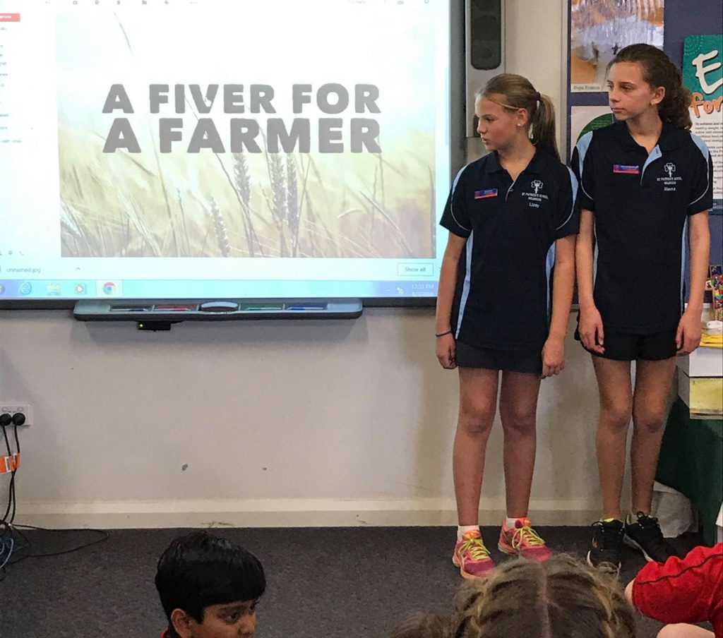 Year 6 Holbrook students organise 'Fiver for a Farmer' appeal